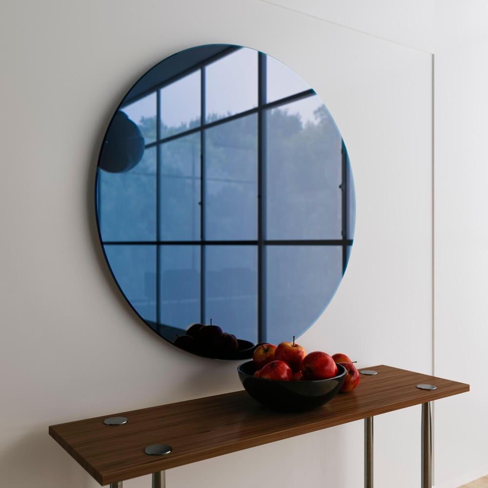 gekleurde spiegel blauw