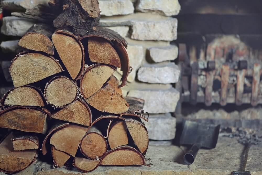 hout open haard