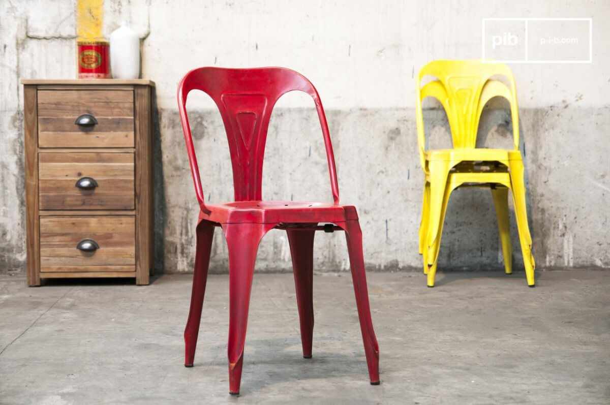 industriële vintage stoel
