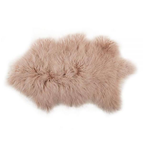 schapenwollen kleedje roze