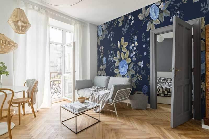 Kleur op de muur met een bloemenprint!