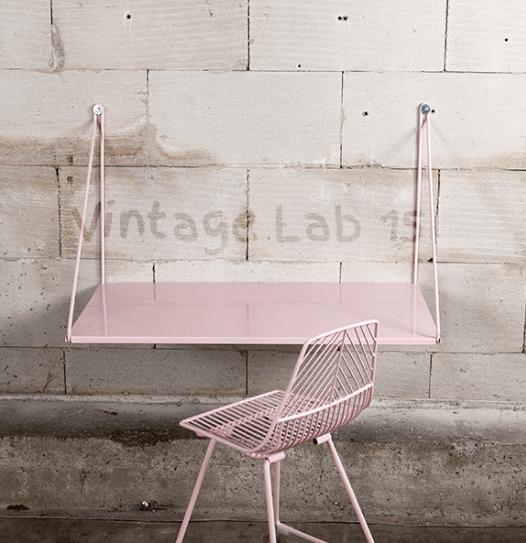 zwevend kinderbureau roze