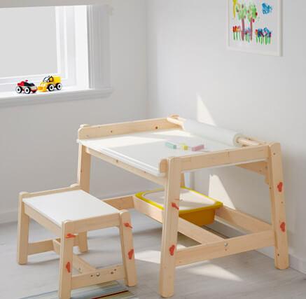 kinderbureau hout verstelbaar hoogte