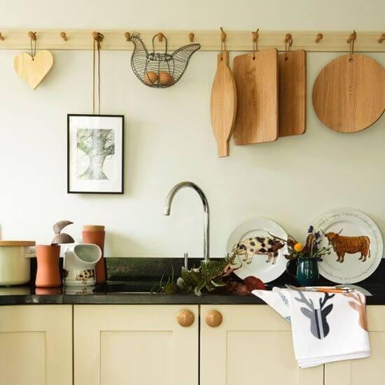 peg rail keuken landelijk
