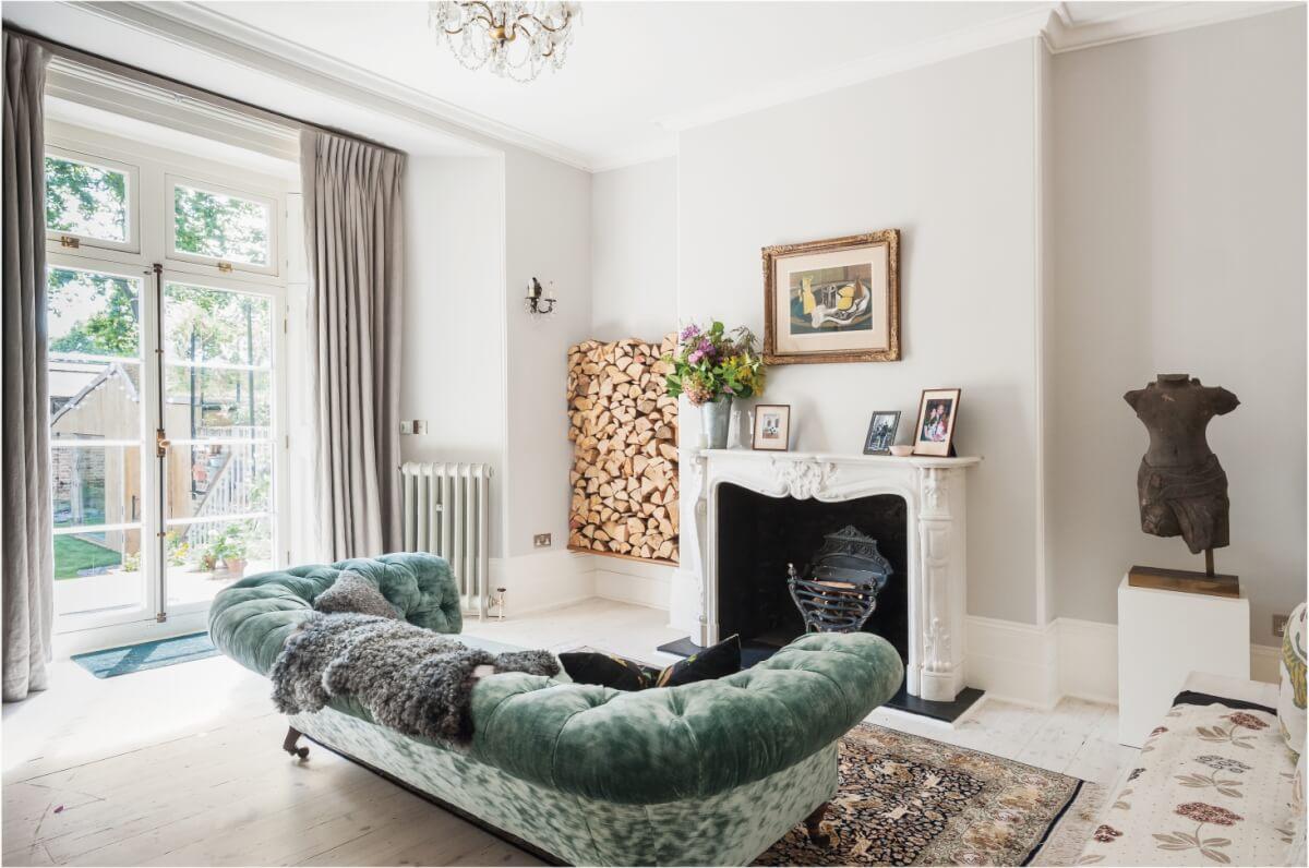 houtstapel elegant interieur