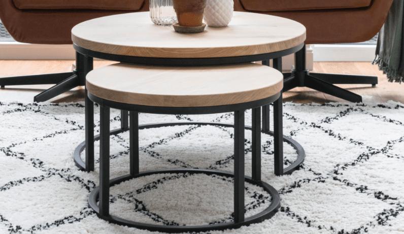 Kleine ronde salontafels