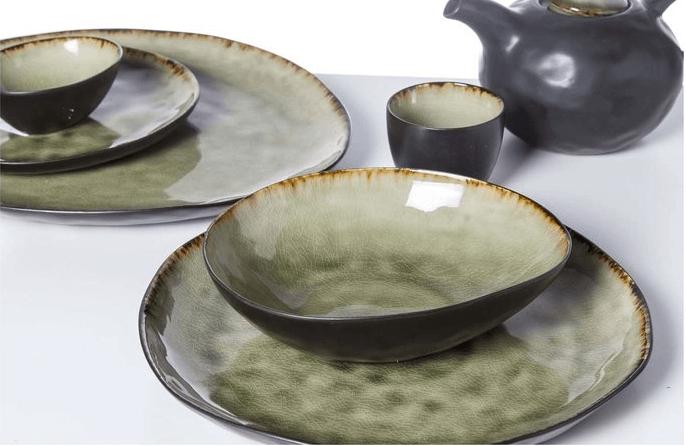 aardewerken servies mossa