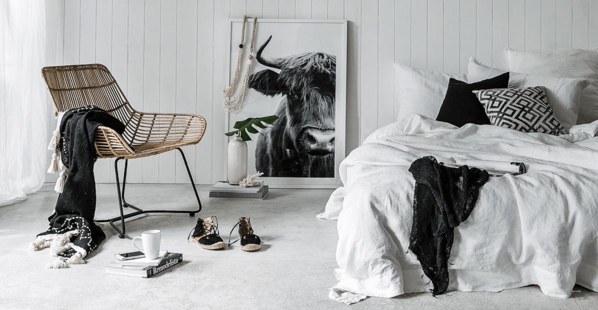 monochroom slaapkamer