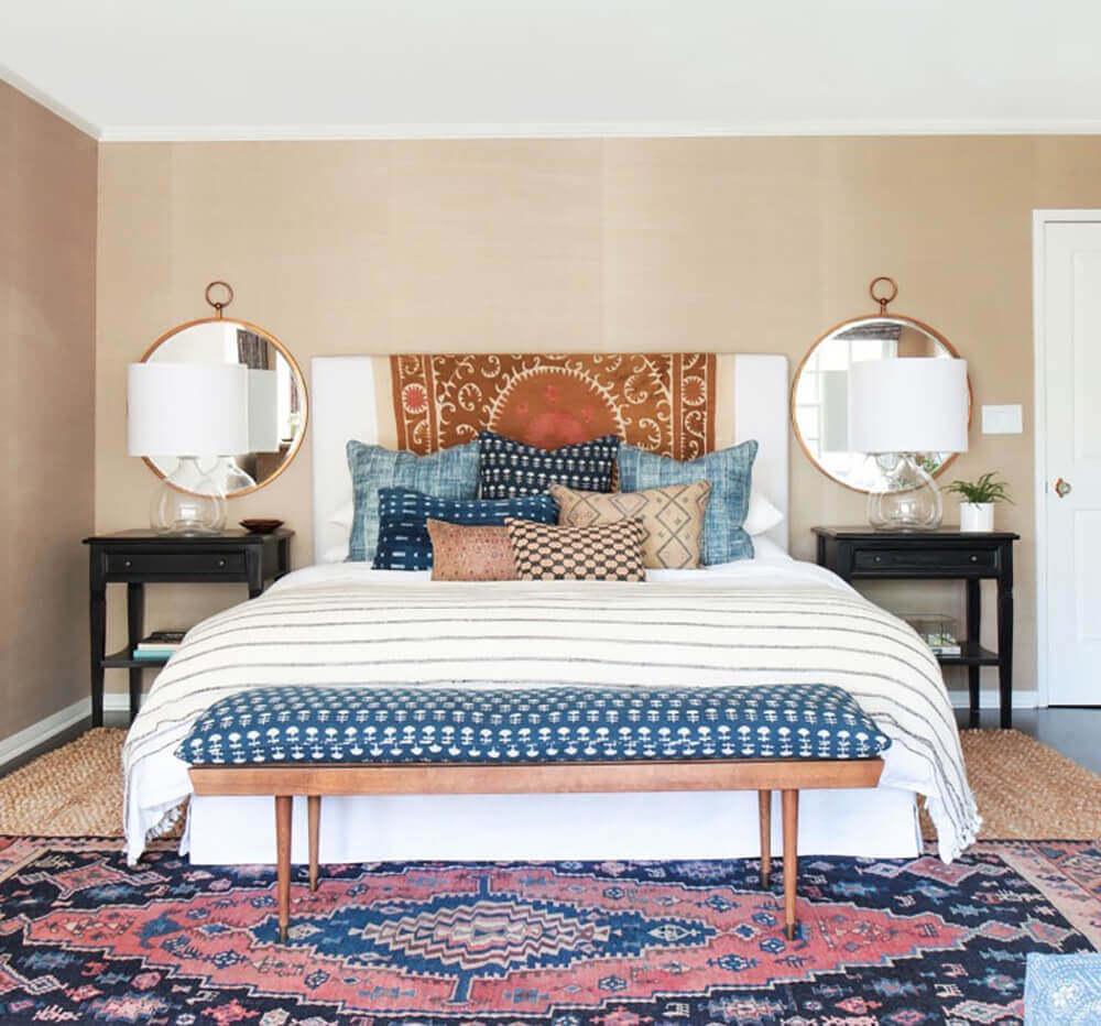 sofa bedeinde bohemian