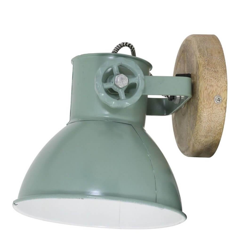 stoere lamp aan de wand