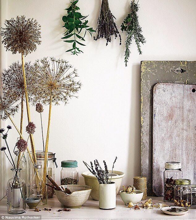 gedroogde bloemen vintage