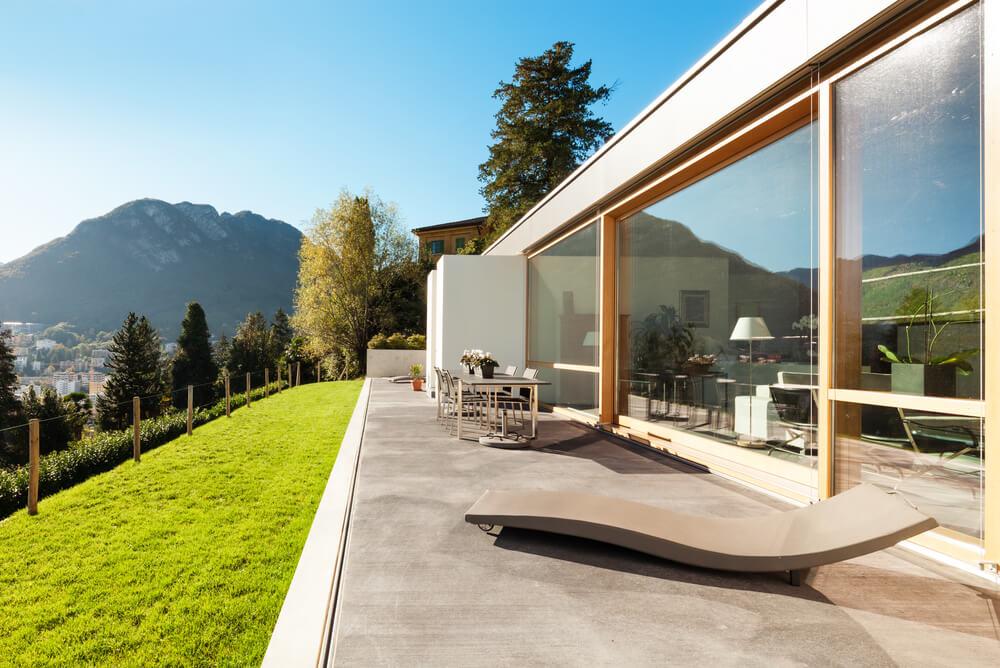 Betonnen veranda