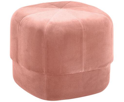 poef roze fluweel