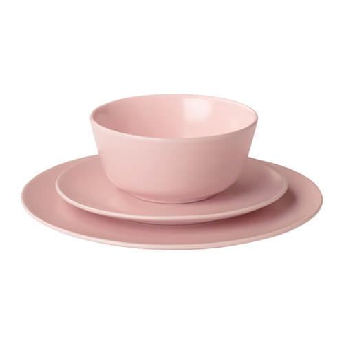 roze servies Ikea