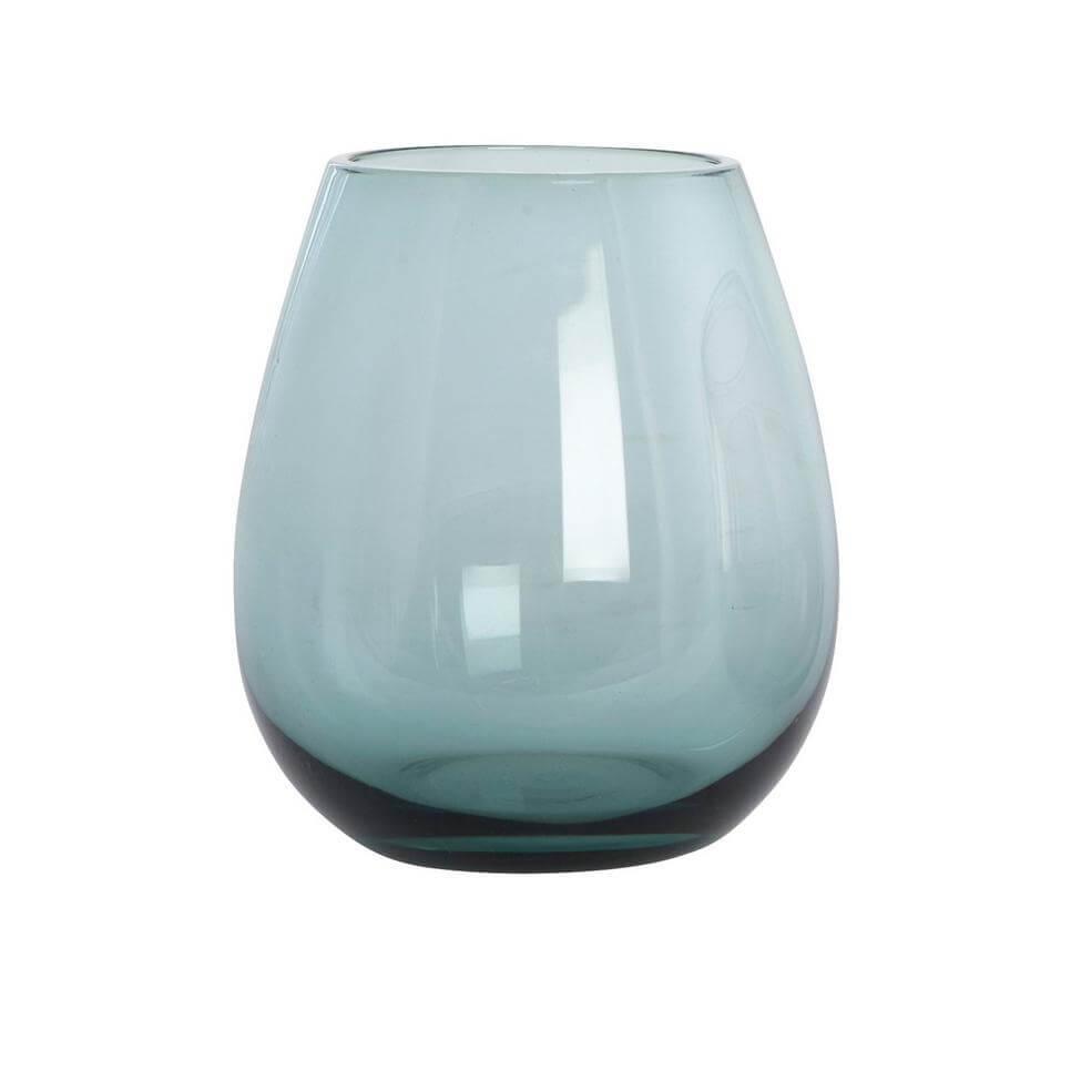 blauw drinkglas