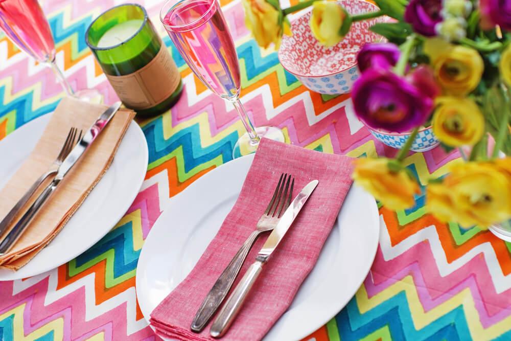 kleur tafel dekken