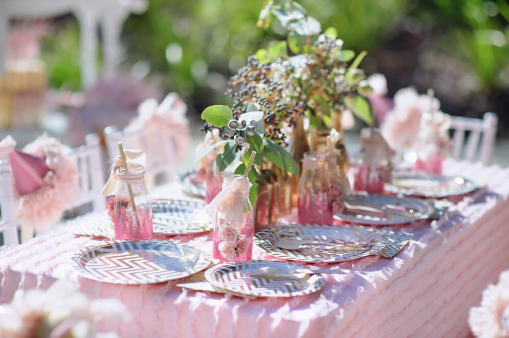 roze tafelsetting