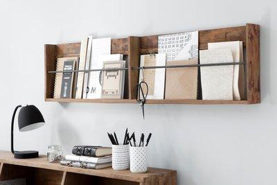 Tijdschriftenrek oud hout
