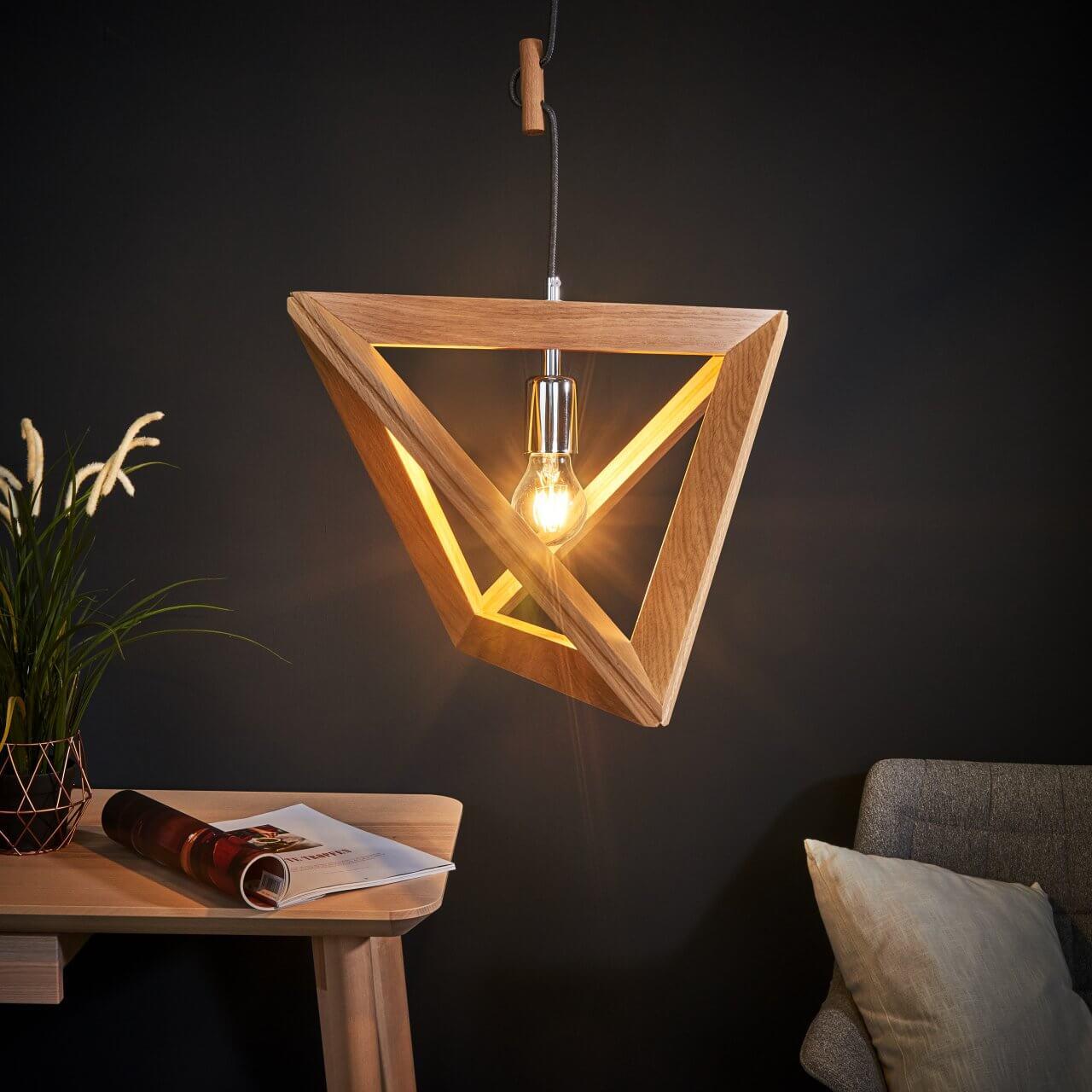 Houten frame lamp