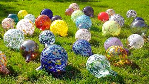 glazen bol tuin decoratie