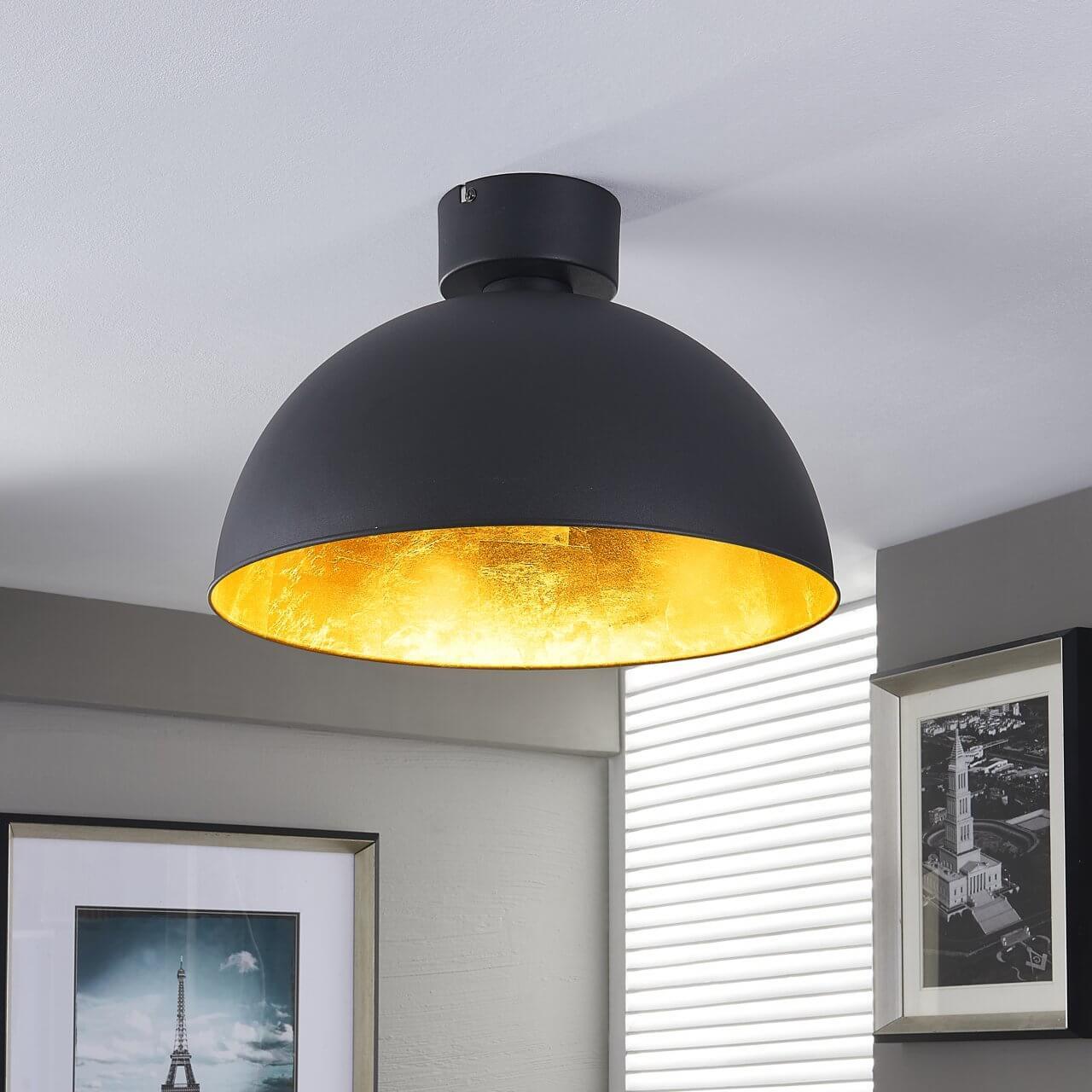Strakke metalen plafondlamp