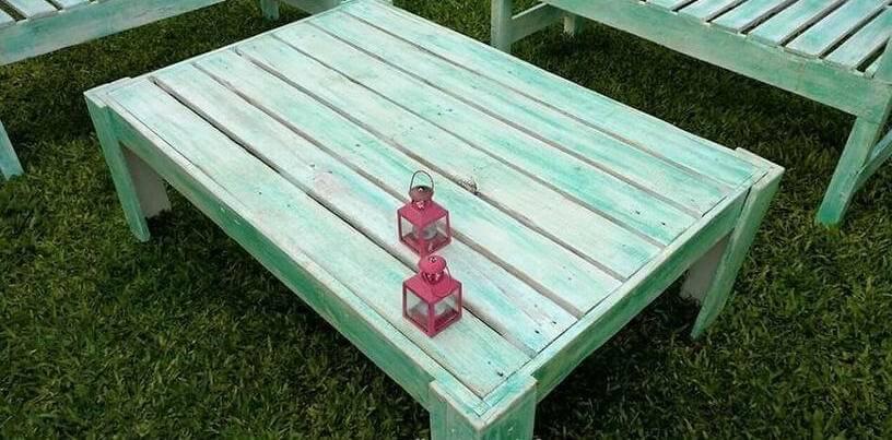 groene pallet tafel tuin