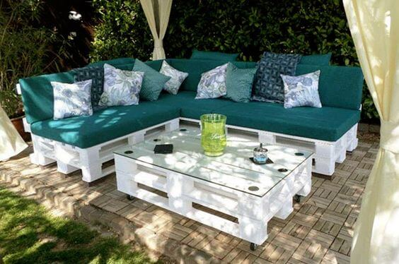 witte pallet loungeset tuin