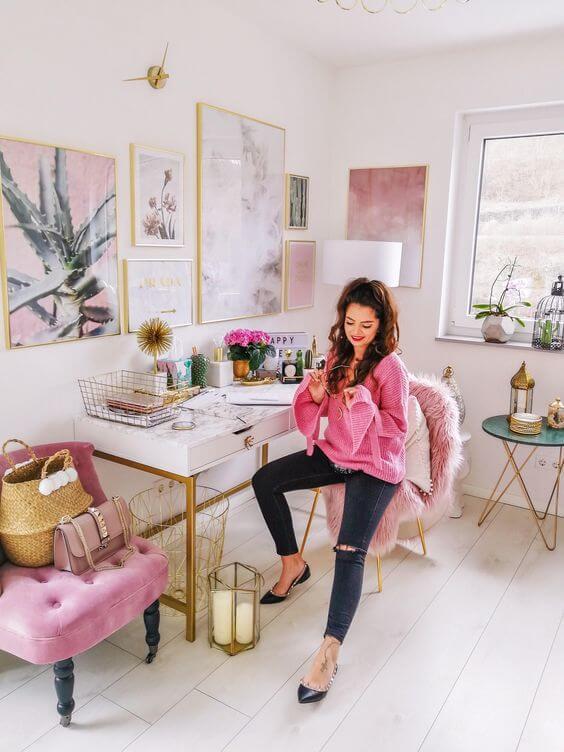 thuis kantoor Roze