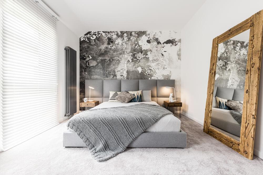 grijs bruin slaapkamer