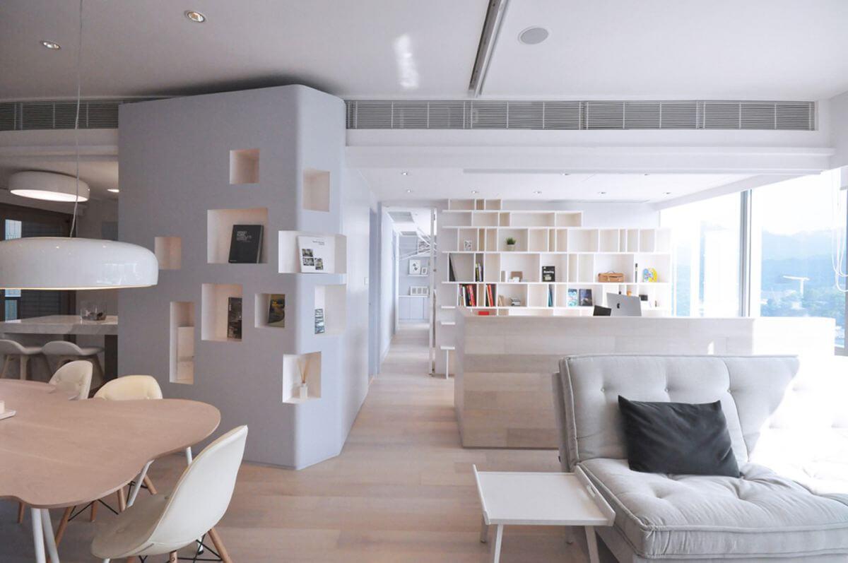 boekenkast muur