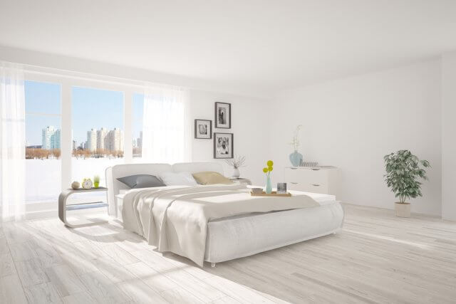 Een frisse minimalistische slaapkamer in stappen ik woon fijn