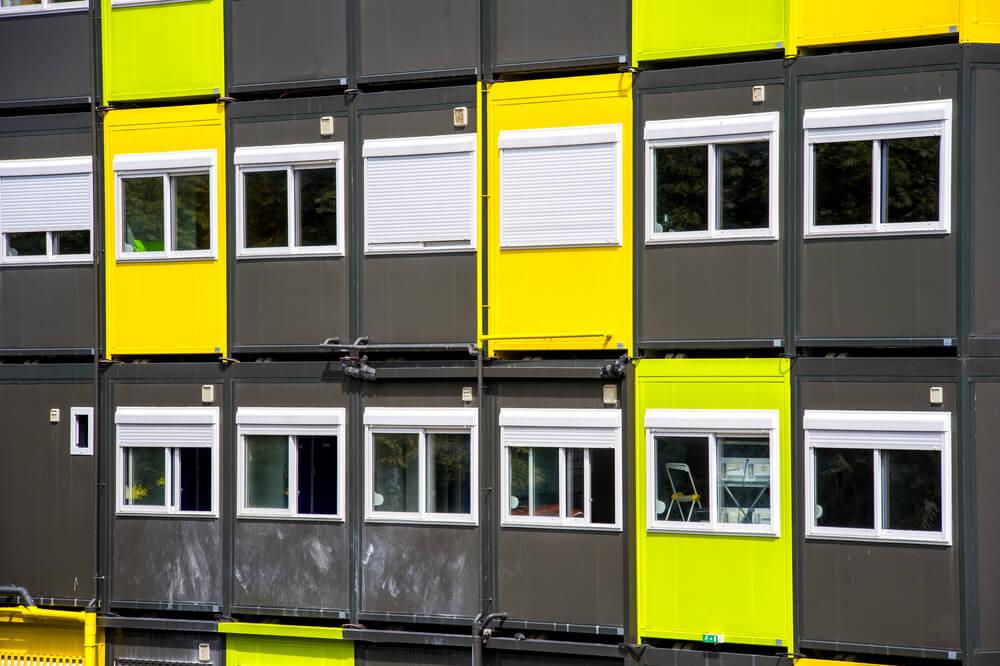Containerwoningen in flat