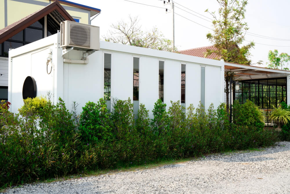 Containerwoning met airco