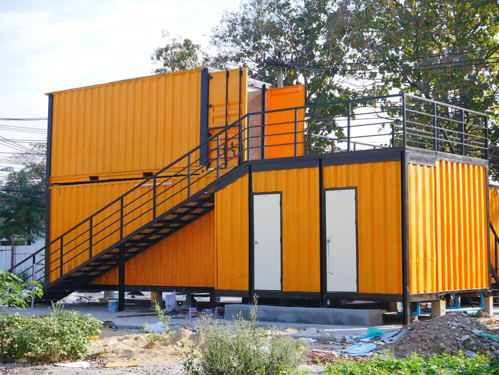Containers als bouwkeet