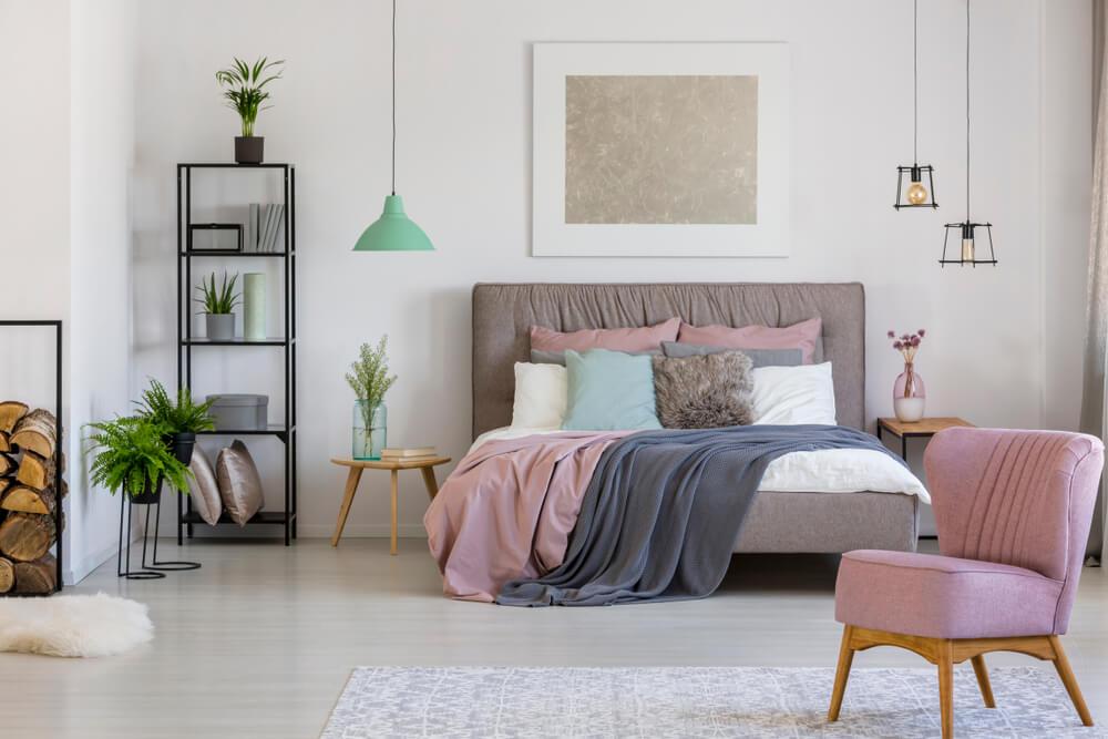 Roze accessoires slaapkamer