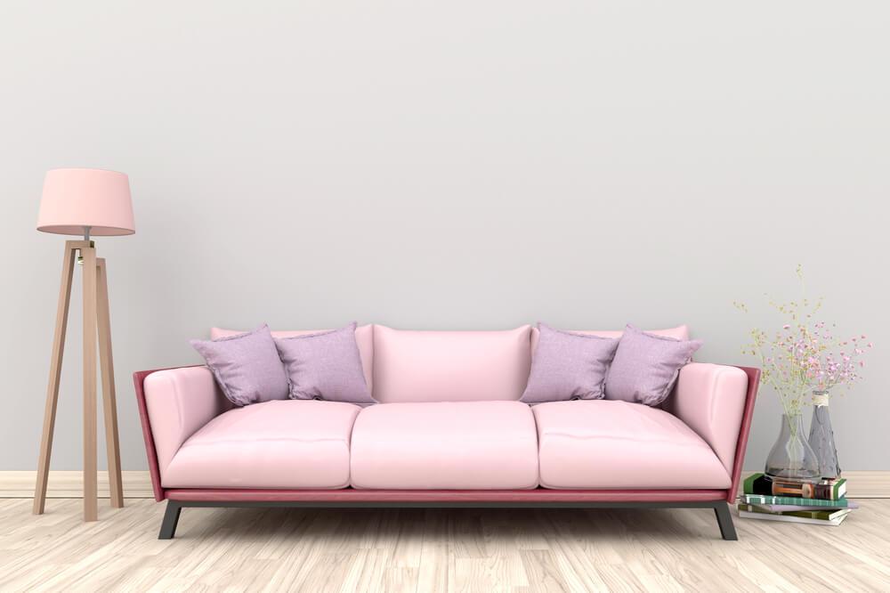 Licht roze bankstel