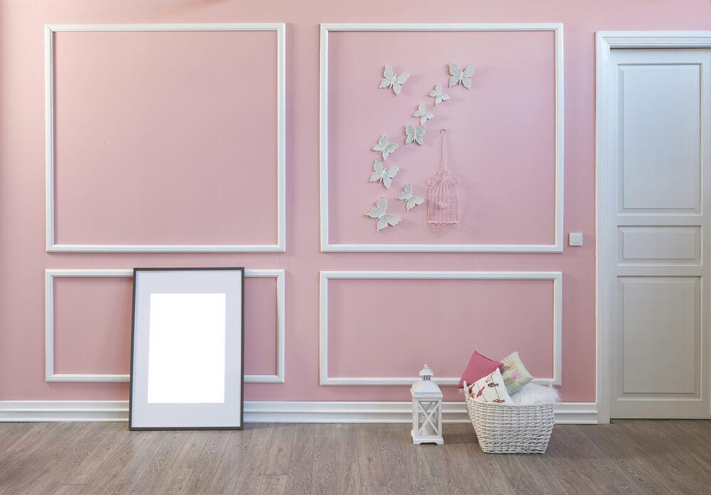 Roze muur klassiek