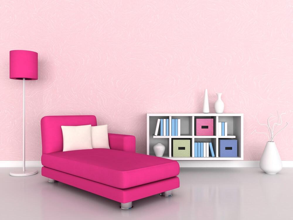 Knal roze sofa