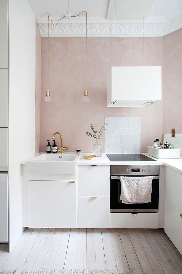 Beroemd Inspiratie: een roze muur in de keuken | Ik woon fijn @TT77