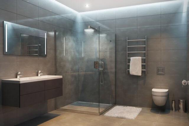 Rolgordijn voor badkamer elegant fantastisch afzuiging badkamer
