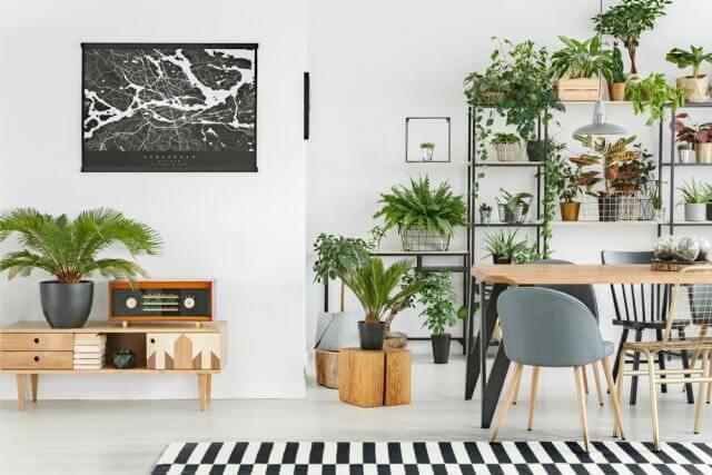 Een botanisch interieur