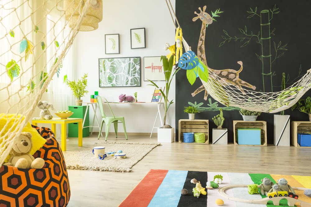 Jungle slaapkamer