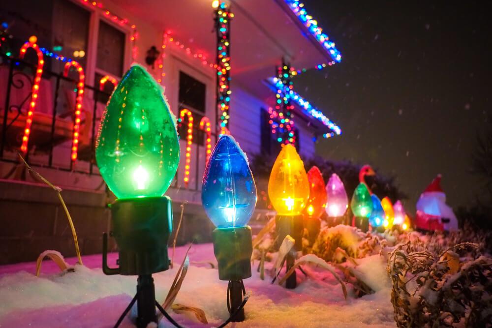 Grote kerstlampen tuin