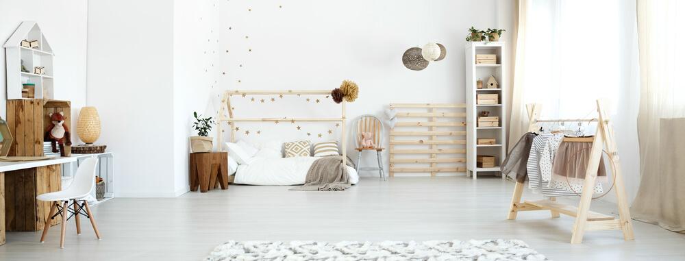 Kinderkamer met hout