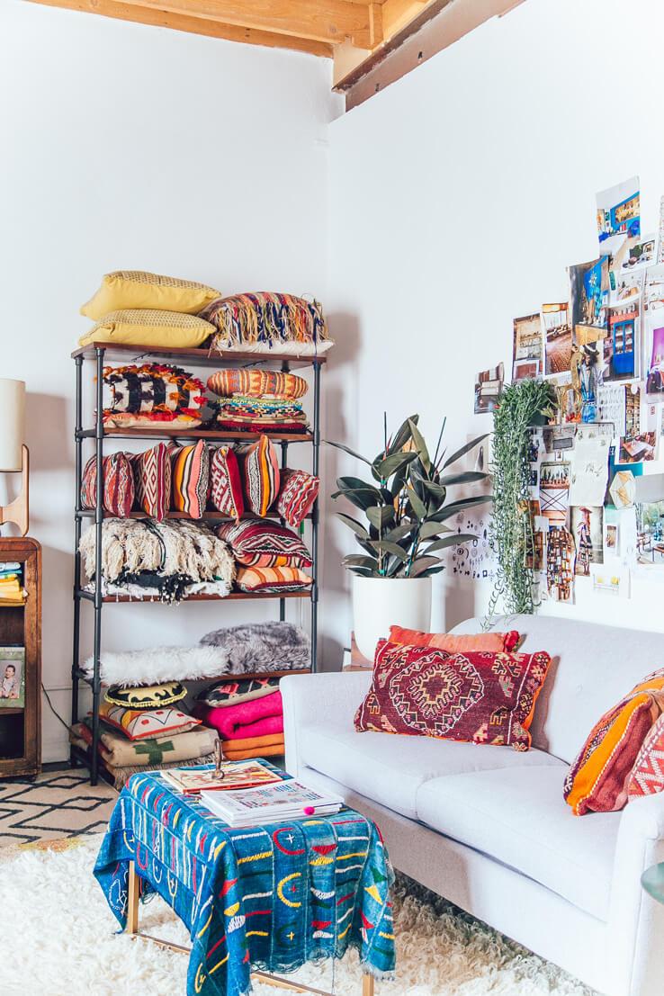 bohemian stijl kleine ruimte