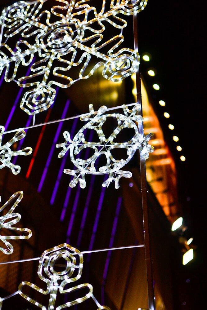 Kerstverlichting sneeuwvlokken
