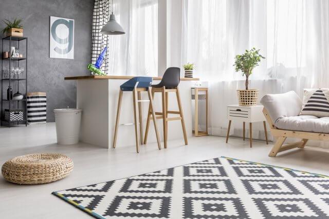 Scandinavisch Interieur Kenmerken : Vloerkleed scandinavische stijl