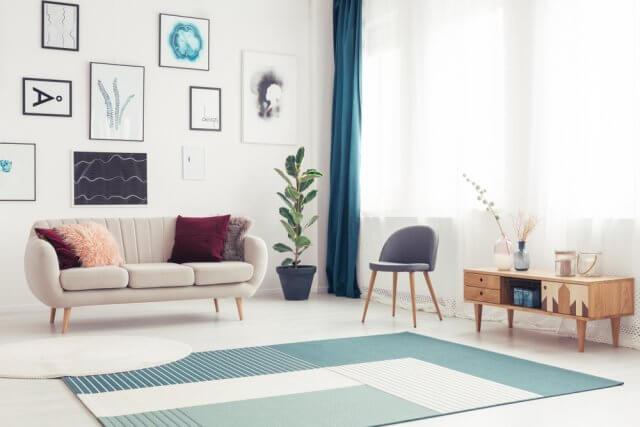 Scandinavische Vintage Woonkamer : Vloerkleden in een scandinavisch interieur ik woon fijn