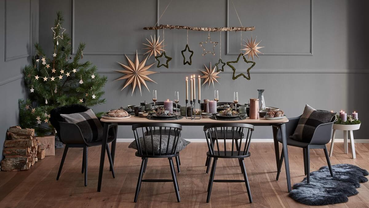 scandinavisch kerst decoratie