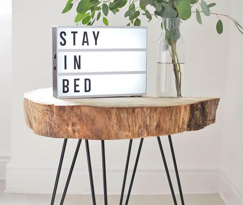 Minimalistische slaapkamer DIY